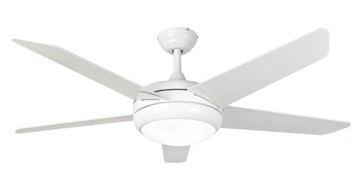 "Eurofans Neptune 54"" White Ceiling Fan + Remote Control +  LED Light 115847"